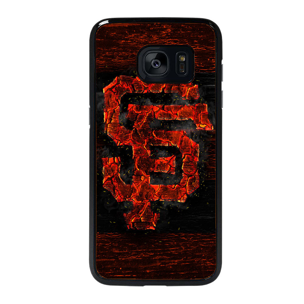 SAN FRANCISCO GIANTS ICON WOOD Samsung Galaxy S7 Edge case