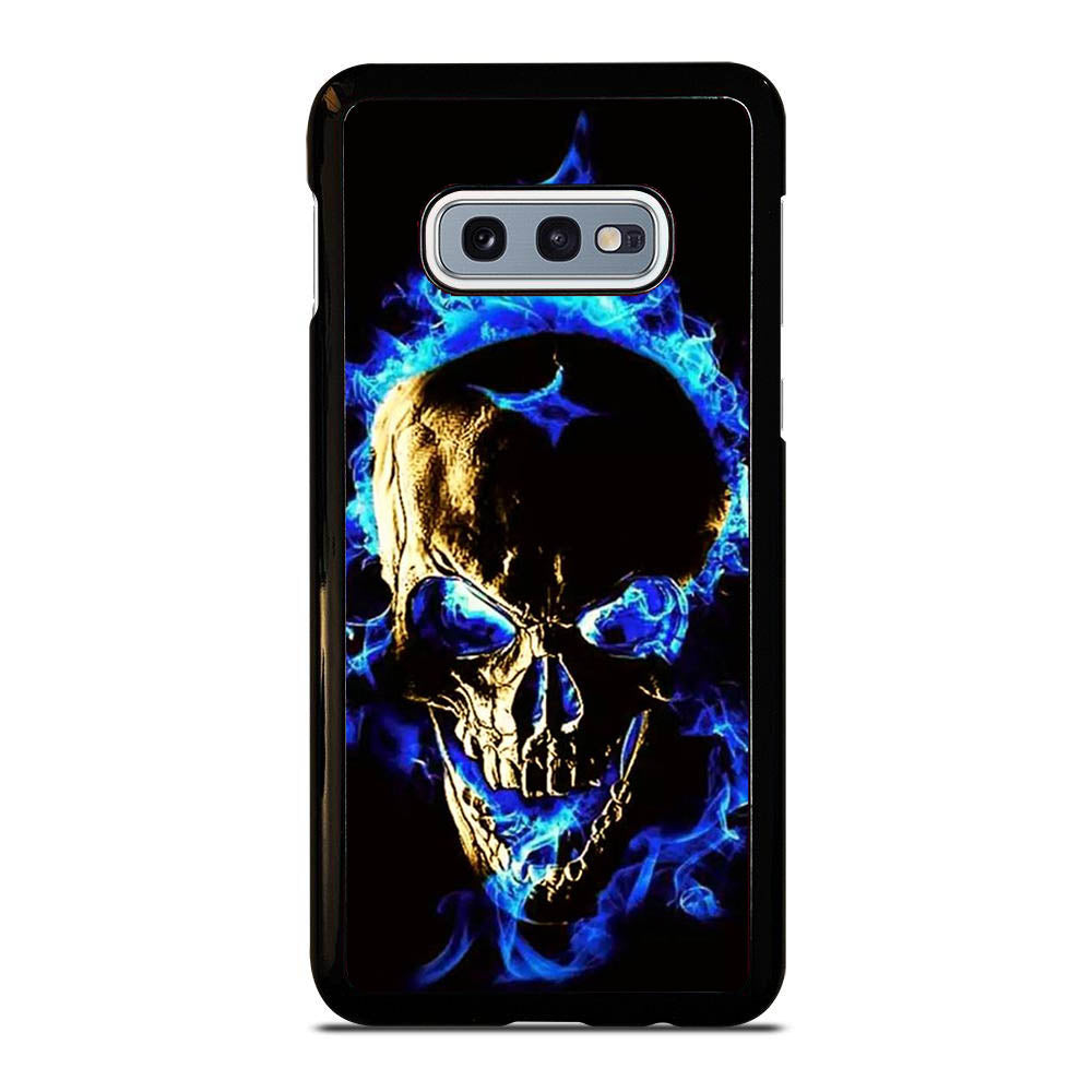 SKULL FIRE BLUE Samsung Galaxy S10E case