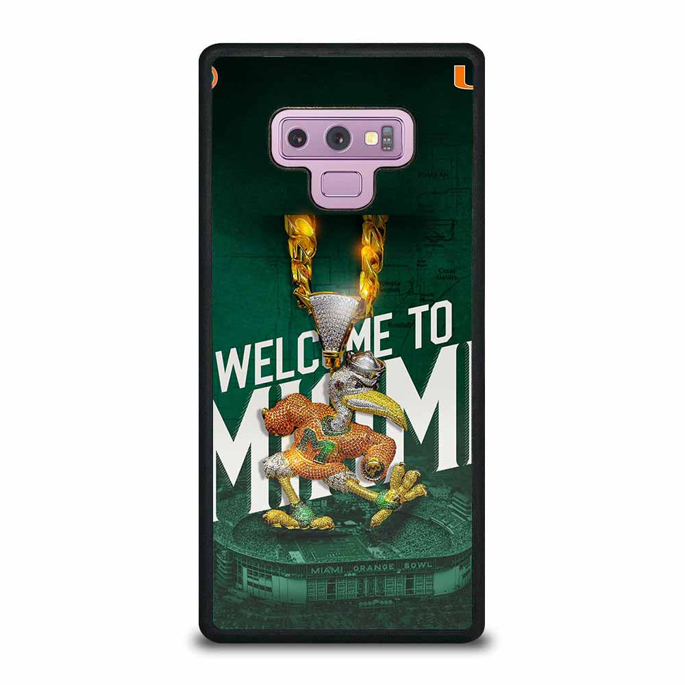 WELCOME TO MIAMI HURRICANES UM Samsung Galaxy Note 9 case