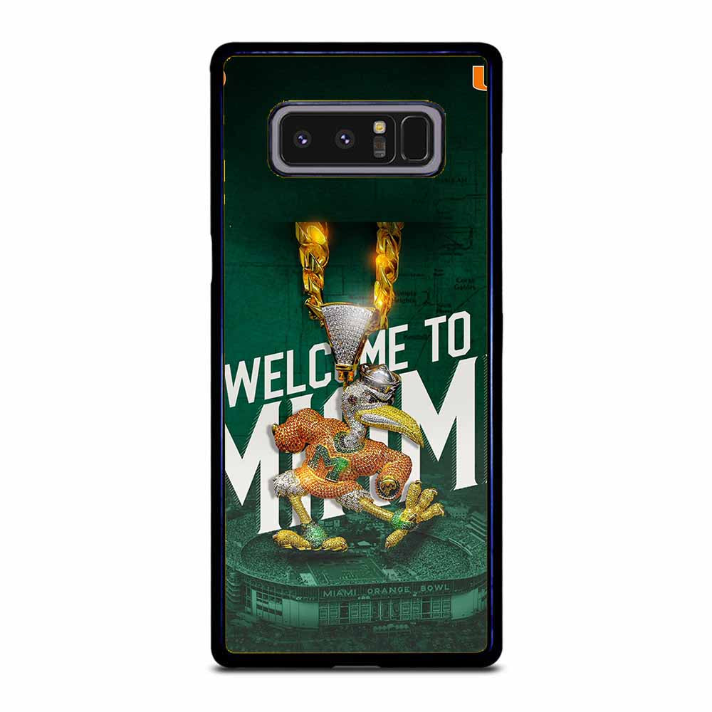 WELCOME TO MIAMI HURRICANES UM Samsung Galaxy Note 8 case