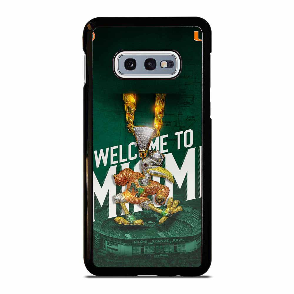 WELCOME TO MIAMI HURRICANES UM Samsung Galaxy S10E case