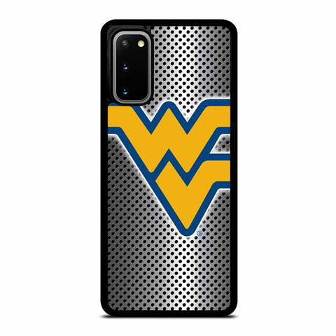 WEST VIRGINIA BLACK BEARS LOGO SILVER SAMSUNG GALAXY S20 CASE