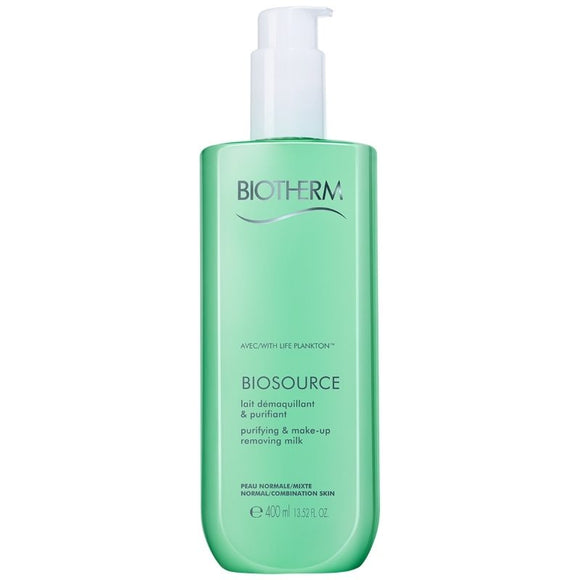 Biotherm Biosource Purifying & Make up Removing Milk 400ml   Normal/Combination Skin - The Golden Galleria