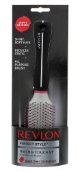 Revlon Nano Ionic Finish & Touch Up Hair Brush   Silver - The Golden Galleria