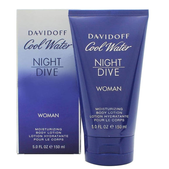Davidoff Cool Water Women Night Dive Body Lotion 150ml - The Golden Galleria