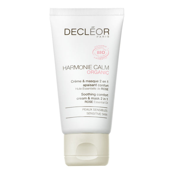 Decleor Harmonie Calm Soothing Comfort 2 in 1 Cream & Mask 50ml - The Golden Galleria