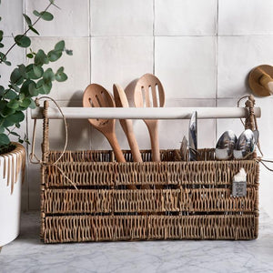 RM Rustic Rattan Organise Your Cutlery Holder