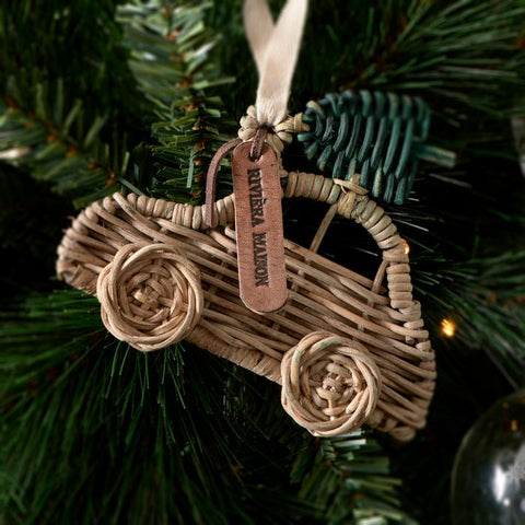 RM Rustic Rattan CAR Ornament