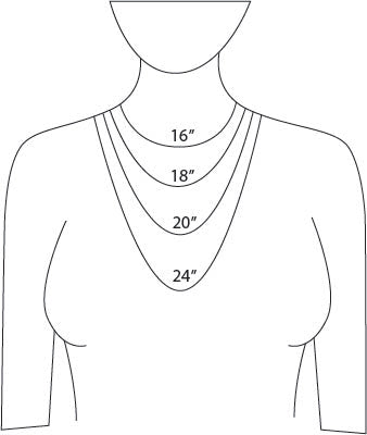 Silver Suspensions necklace lengths