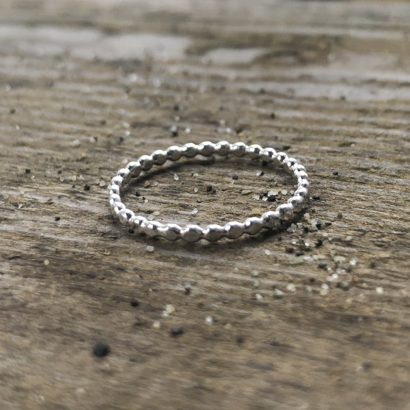 twist, rope, bead, ring, stacking, sterling, silver, jewelry, forged, gift