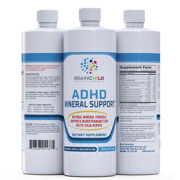 Supplement for ADHD Mineral Support