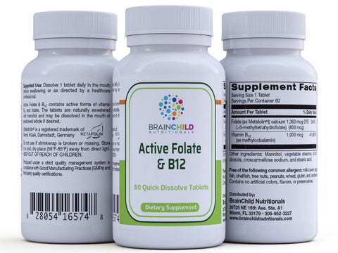 Active Folate and Methyl B12 60 dissolving tablets