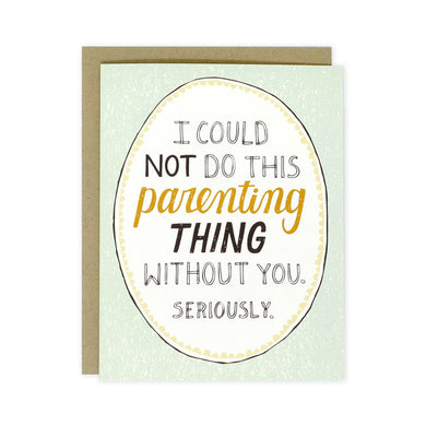 This Parenting Thing card
