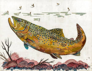 Dolan Geiman Signed Print Trout (Brown)