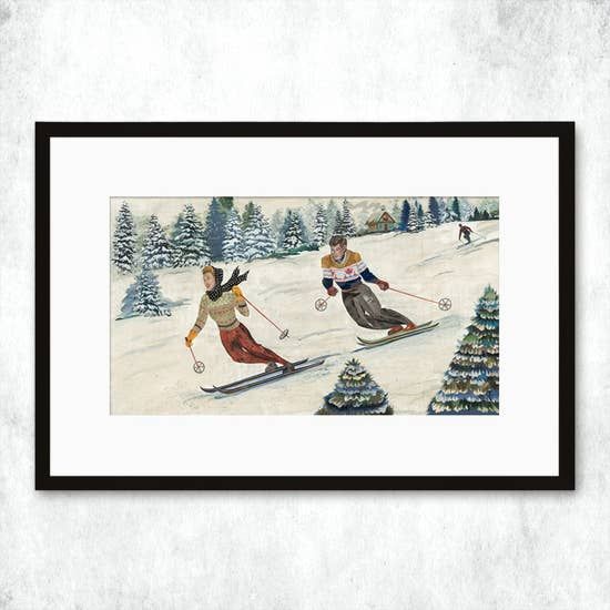 Dolan Geiman Signed Print Snowday in Steamboat