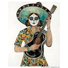 Load image into Gallery viewer, Dolan Geiman Signed Print Fawn & Phoenix Sugar Skull