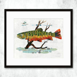 Dolan Geiman Signed Print Trout (Brook)
