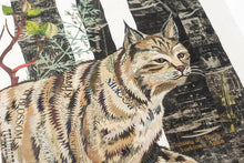 Load image into Gallery viewer, Dolan Geiman Signed Print Midnight Forest (Bobcat)