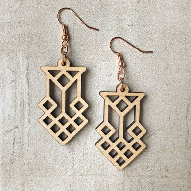 Laser Cut Maple Earrings