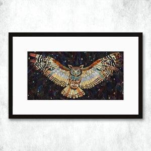 Dolan Geiman Signed Print Owl (The Protector)
