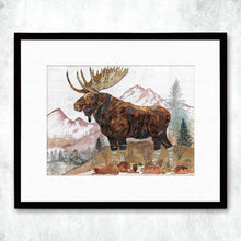 Load image into Gallery viewer, Dolan Geiman Signed Print Moose (Rocky Mountain Sentinel)
