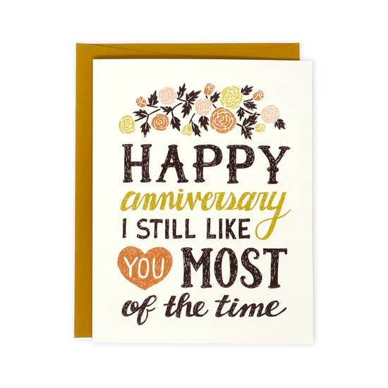 I Still Like You anniversary card