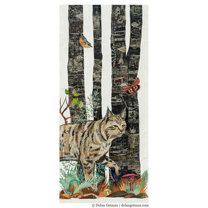 Dolan Geiman Signed Print Midnight Forest (Bobcat)