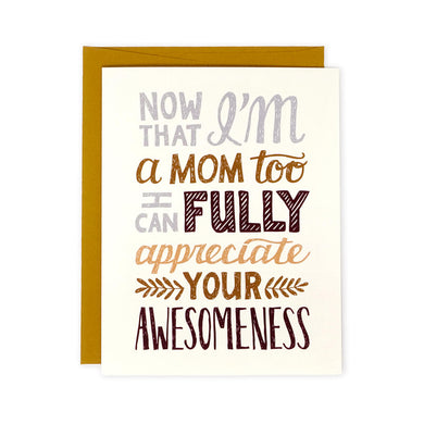 Your Awesomeness Mothers Day card