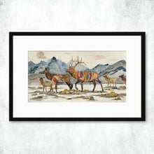 Load image into Gallery viewer, Dolan Geiman Signed Print Elk Headed Home