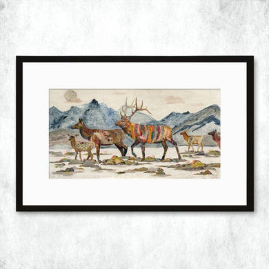 Dolan Geiman Signed Print Elk Headed Home