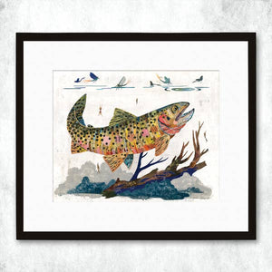 Dolan Geiman Signed Print Trout (Cutthroat)