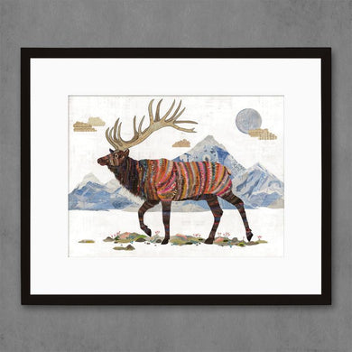 Dolan Geiman Signed Print Elk, King of the Continental Divide