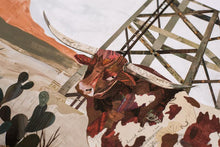 Load image into Gallery viewer, Dolan Geiman Signed Print Longhorn (Mesa King)