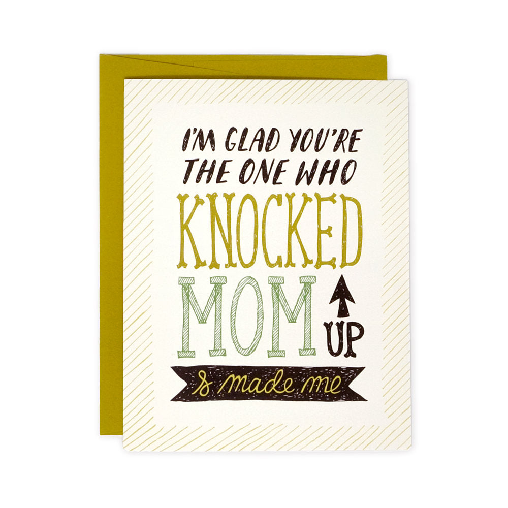 Knocked Up Father's Day card