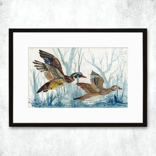 Load image into Gallery viewer, Dolan Geiman Signed Print Ducks (Wood)