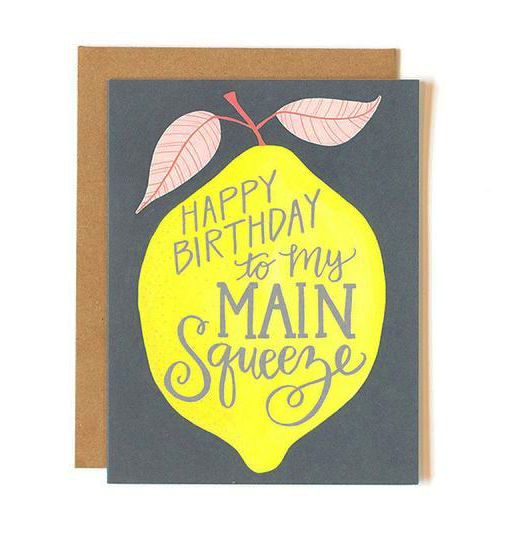 Birthday Lemon Card