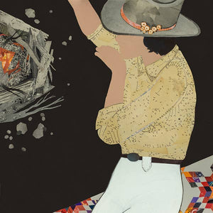 Dolan Geiman Signed Print Campfire Cowgirl