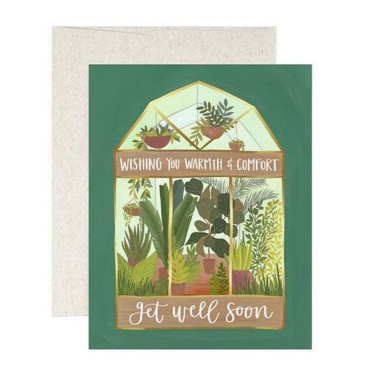 Greenhouse Get Well Soon Card
