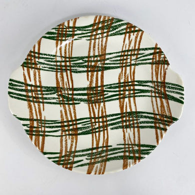 Plaid Pottery Platter