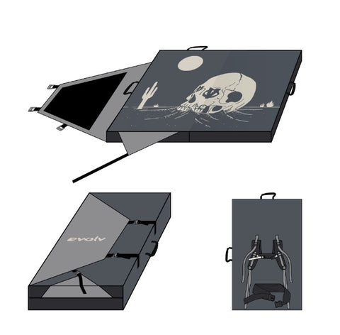 "Crash pad, drop pad Skull de Evolv ""PRÉ-VENTE"""