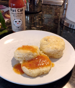 Biscuits with Spicy Peach Maple Bourbon Butter