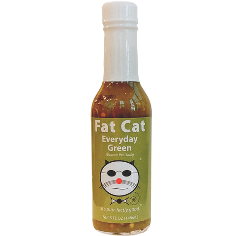 EVERYDAY GREEN JALAPENO HOT SAUCE - Fat Cat Gourmet Hot Sauces & Specialty Condiments