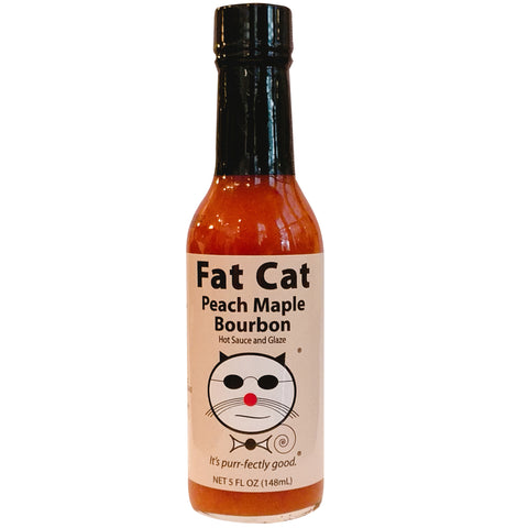 Fat Cat Peach Maple Bourbon Hot Sauce and Glaze