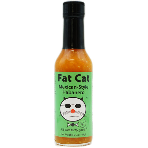Mexican-Style Habanero Hot Sauce - Fat Cat Gourmet Hot Sauce & Specialty Condiments