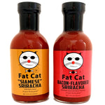 Fat Cat Sriracha Two Pack Bundle - Fat Cat Gourmet Hot Sauce & Specialty Condiments
