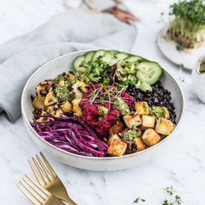 Sesame Ginger Chicken Poke Bowl