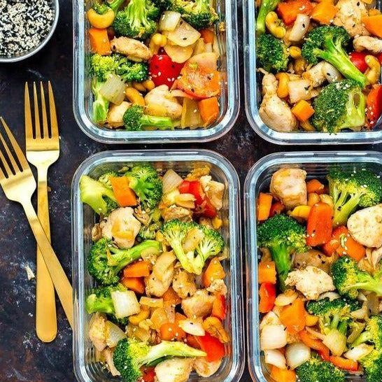 FIT MEAL : Roasted turkey cubes with Steamed Seasonal Vegetables  (1 portion)