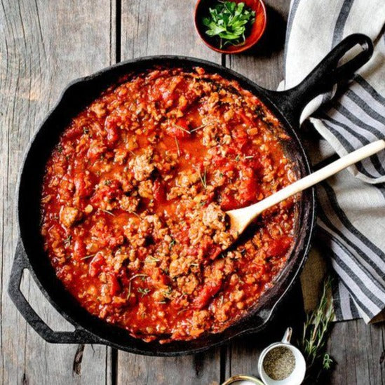 Sausage and squash ragu (1 L)
