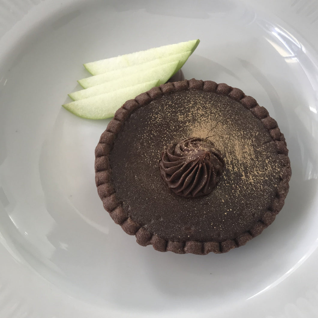 Chocolate and pear tartelette