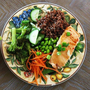 Asian Style Healthy Salmon Bowl